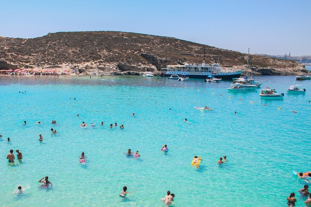 Beach Malta travel passport