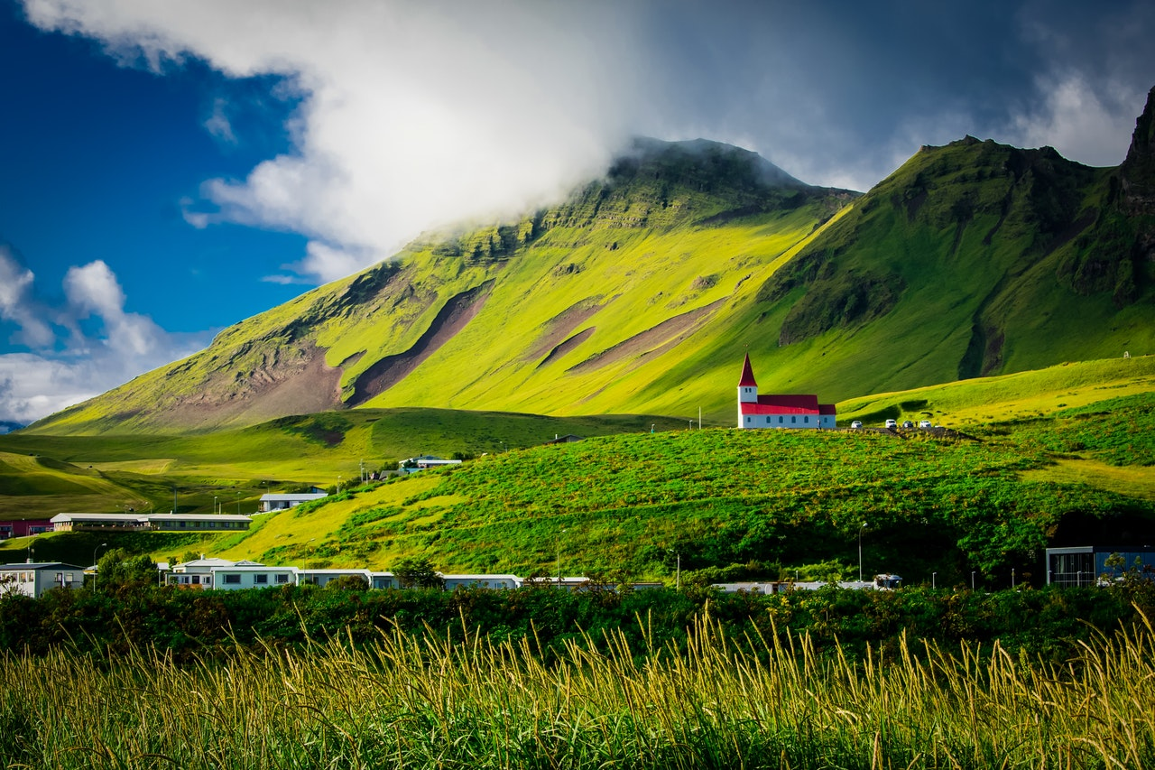 Green field Iceland trip visit travel