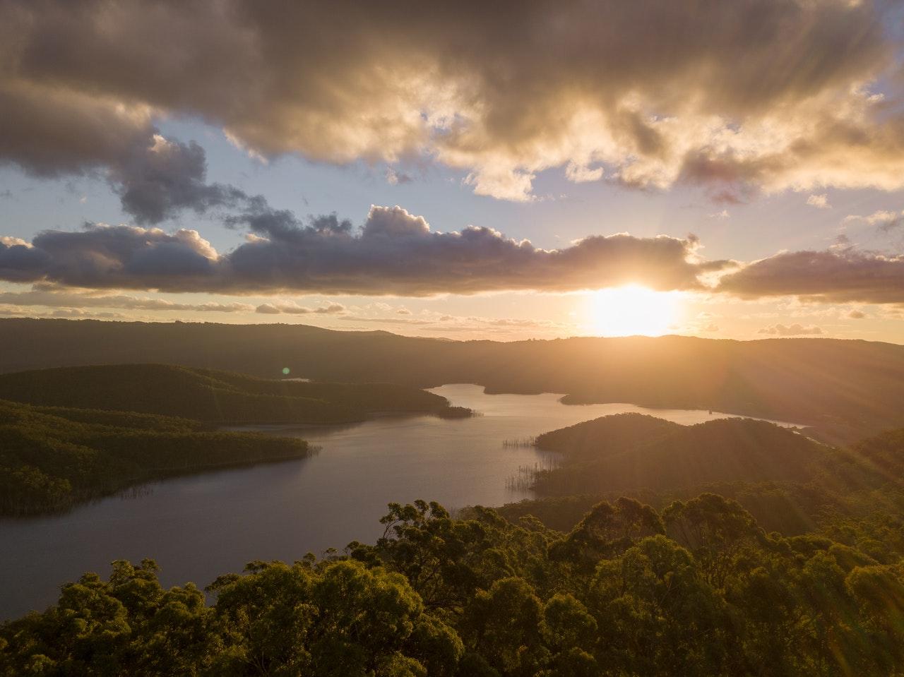 Beautiful Australia land sunset
