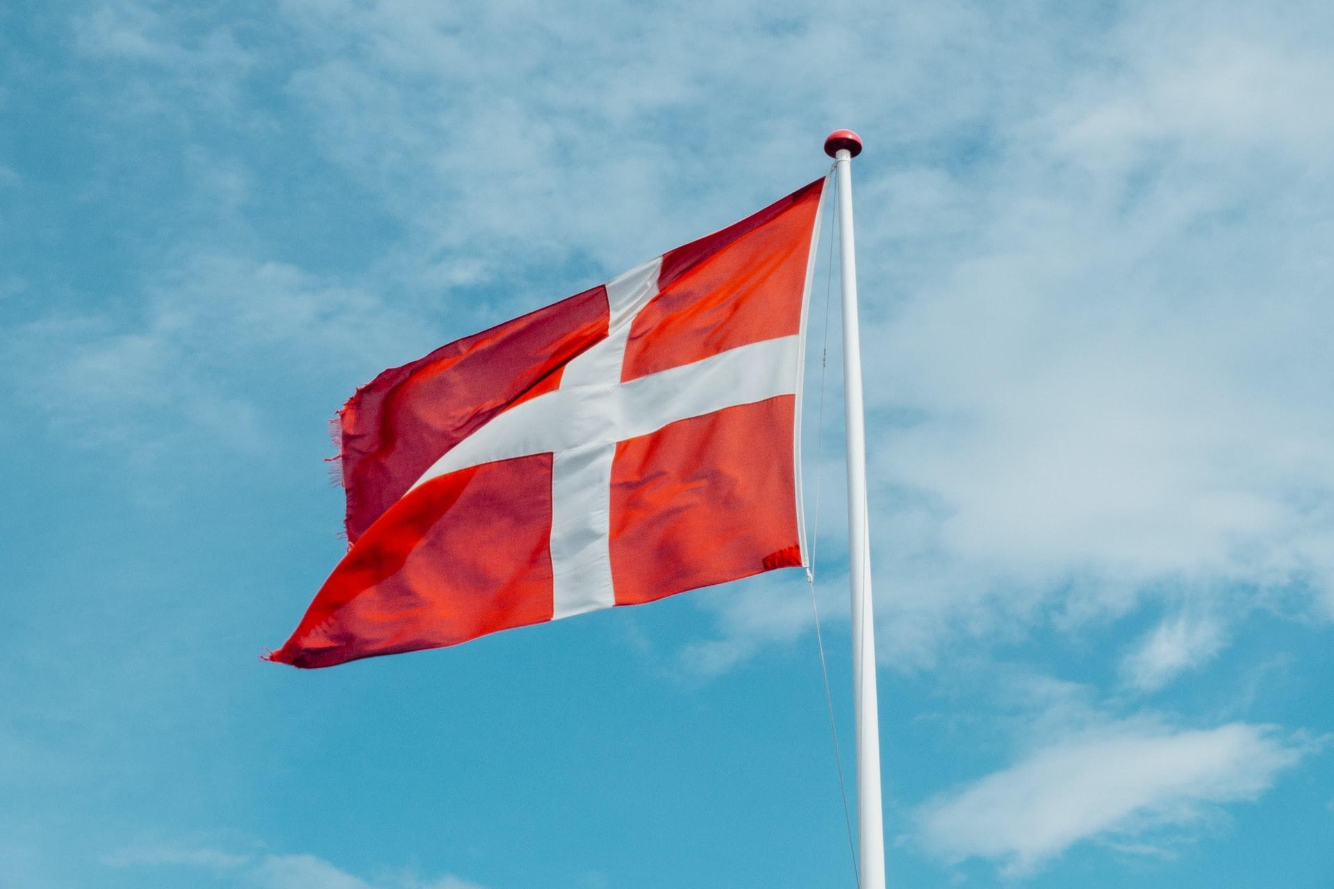 Denmark flag visit Copenhagen